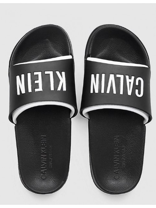 Dámské pantofle Calvin Klein Slide černo-bílé